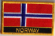 Norway Embroidered Flag Patch, style 09.